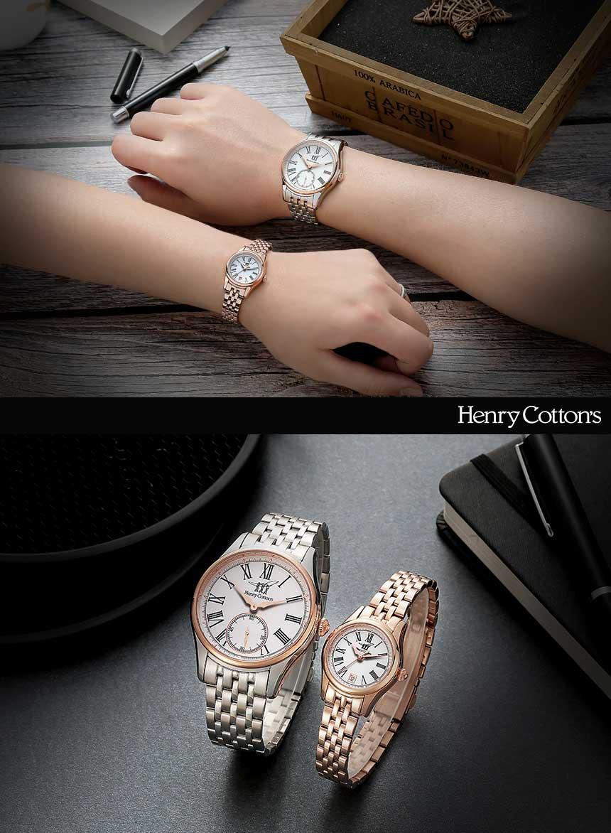 헨리코튼(HENRY COTTON'S) 여자 메탈시계 HC721LM-GD