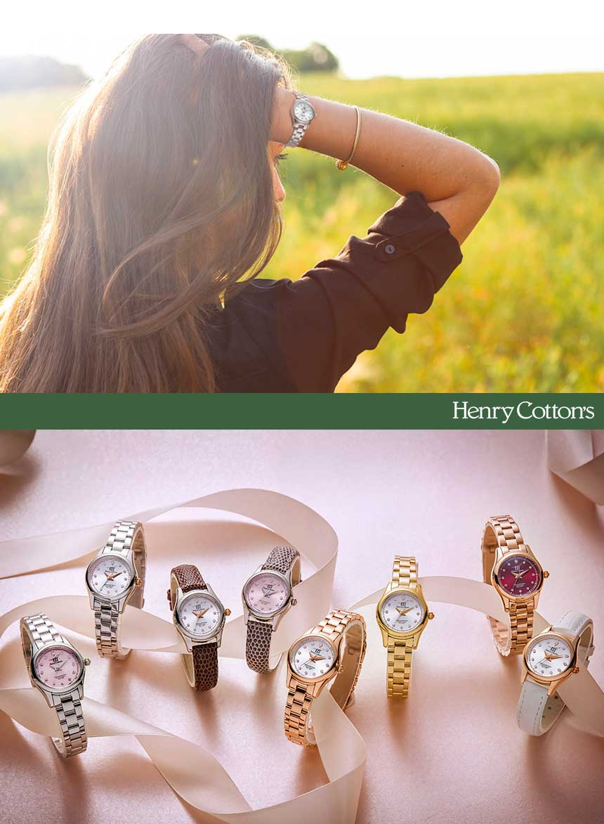 헨리코튼(HENRY COTTON'S) 여자 메탈시계 HC729LM-WH