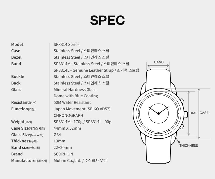 스콜피온(SCORPION) Mans Watch Spring Collection